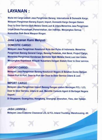 Foto: Jasa Kirim Barang Import & Domestik Kargo Keseluruh Indonesia Door To Door Service