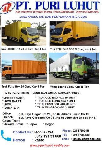 Foto: Jasa Angkutan Barang Truk Box