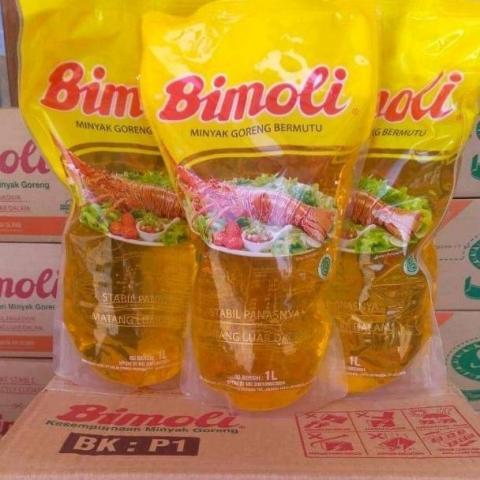 Foto: Grosir Minyak Goreng Bimoli Spesial Refill